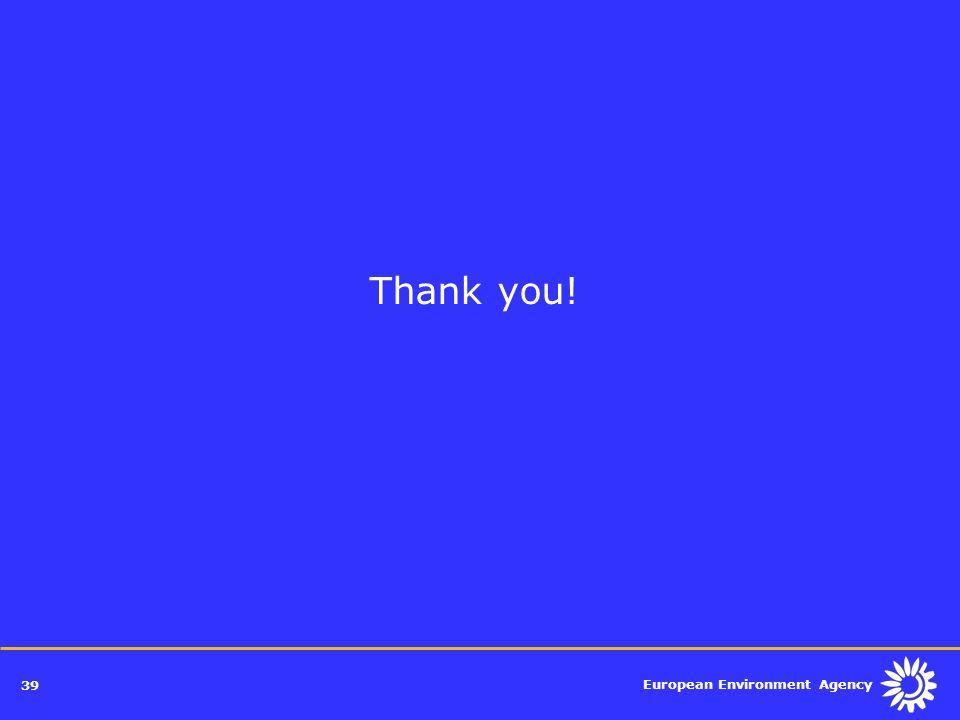 European Environment Agency 39 Thank you!