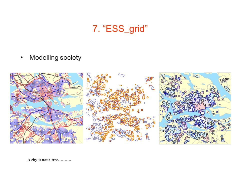 7. ESS_grid Modelling society A city is not a tree……….