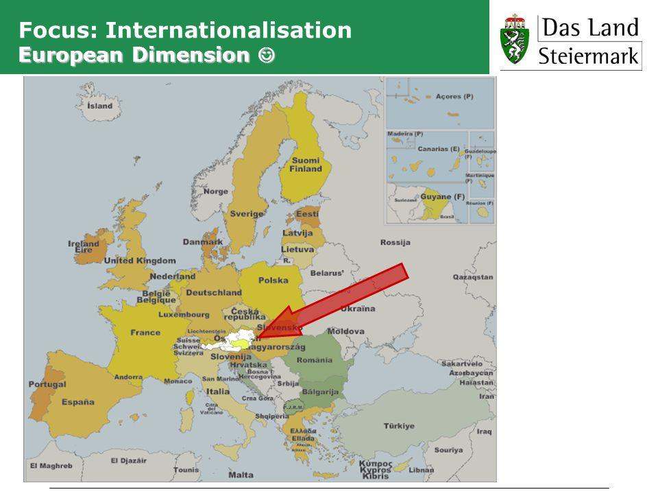 European Dimension Focus: Internationalisation European Dimension