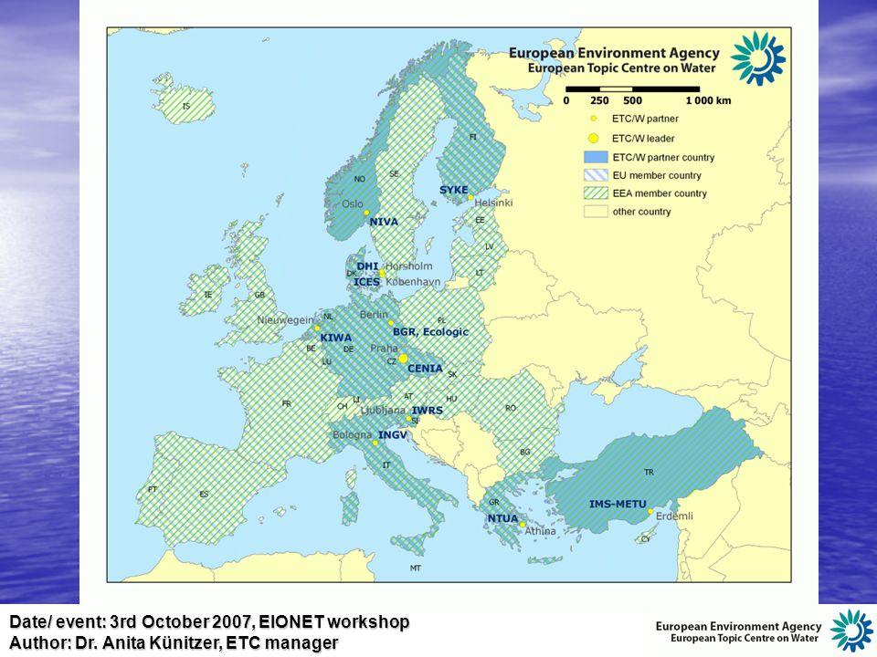 Date/ event: 3rd October 2007, EIONET workshop Author: Dr.