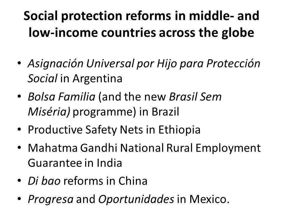 Social protection reforms in middle- and low-income countries across the globe Asignación Universal por Hijo para Protección Social in Argentina Bol
