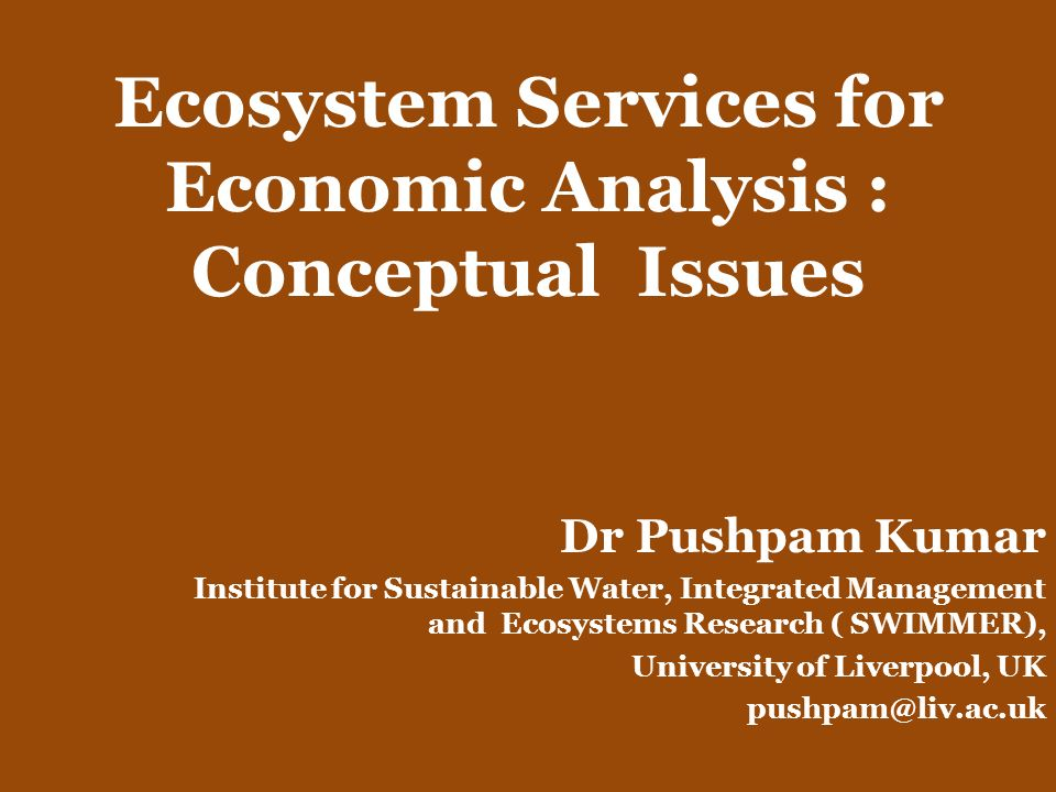 What are Ecosystem Services.Answer depends on the purpose.