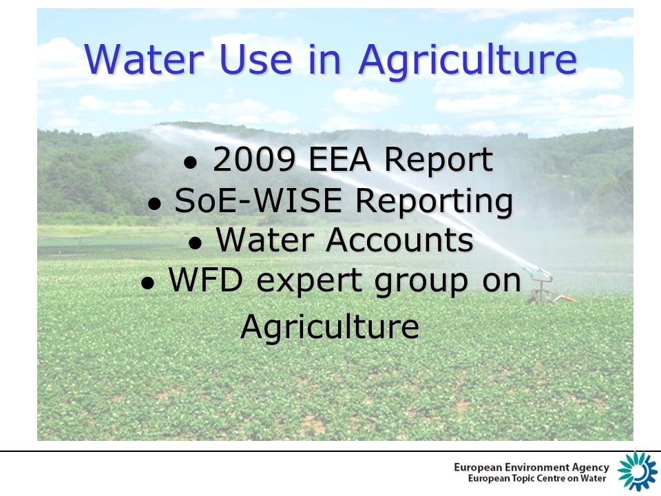 Depicting the Seasonality in Agricultural and Industrial water use in SK RBS