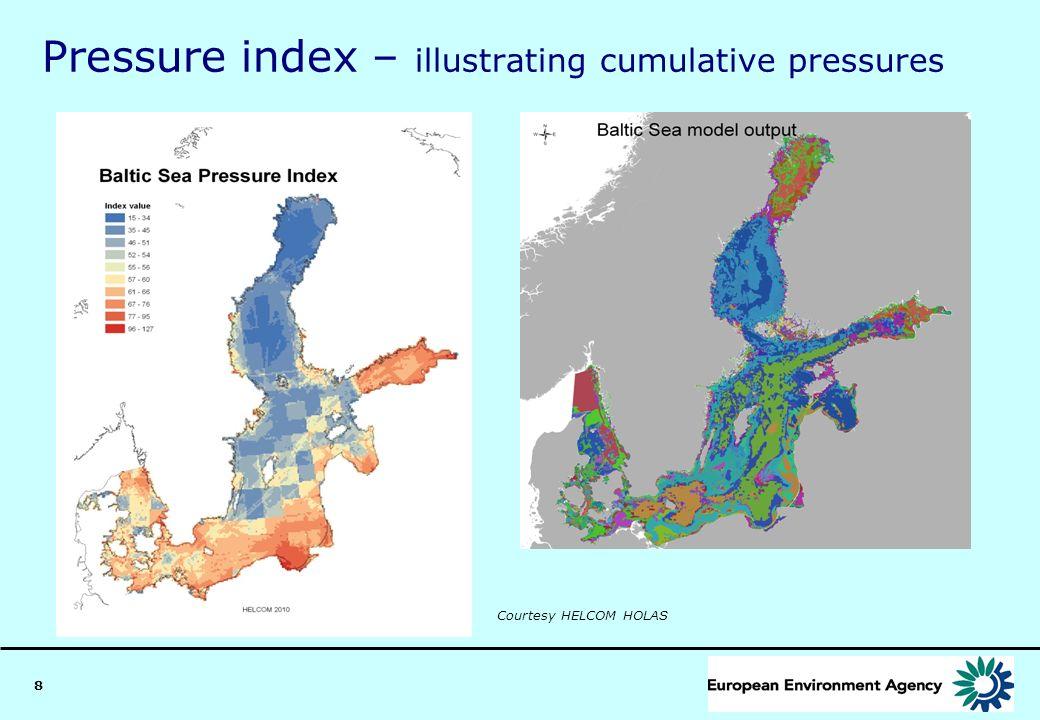 8 Pressure index – illustrating cumulative pressures Courtesy HELCOM HOLAS