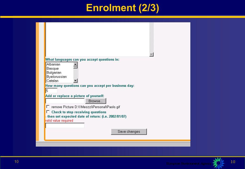 9 9 Enrolment (1/3)