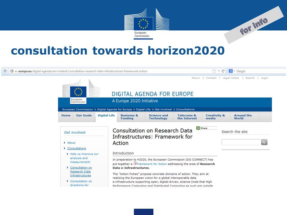 consultation towards horizon2020
