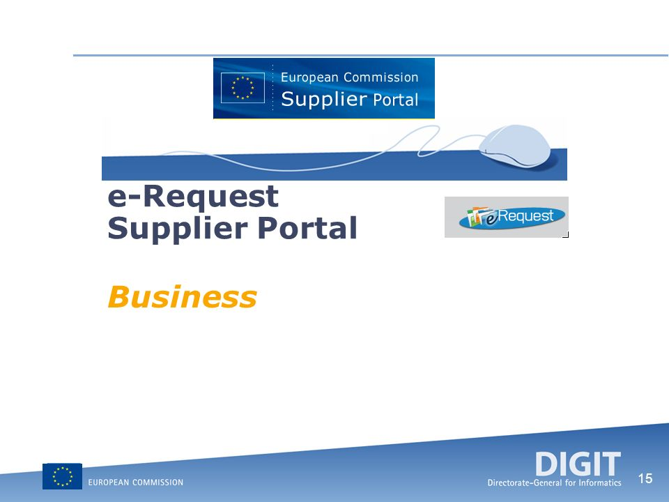 15 e-Request Supplier Portal Business