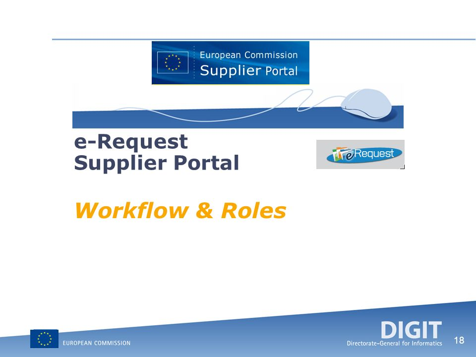 18 Workflow & Roles e-Request Supplier Portal