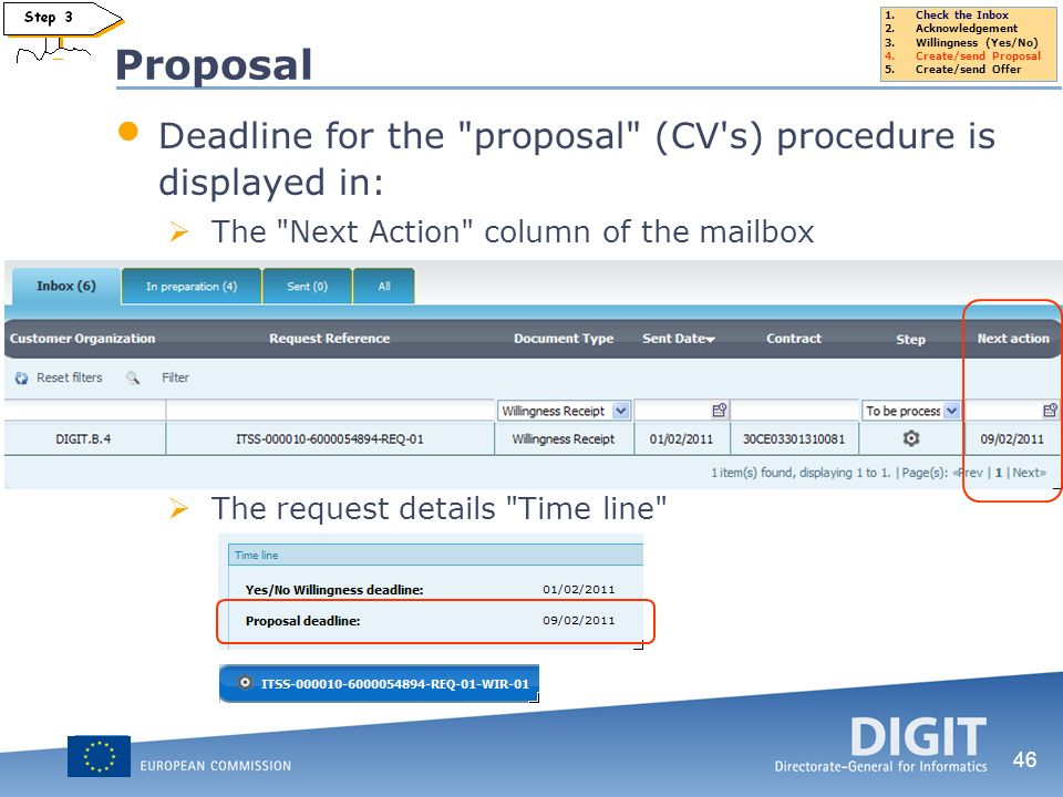 46 Proposal Deadline for the