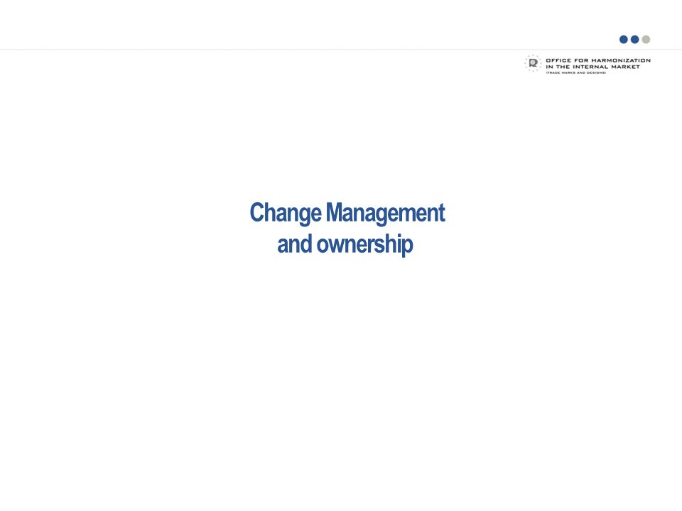 Change Management and ownership