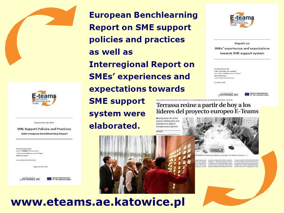 European Benchlearning Report on SME support policies and practices as well as Interregional Report on SMEs experiences and expectations towards SME support system were elaborated.