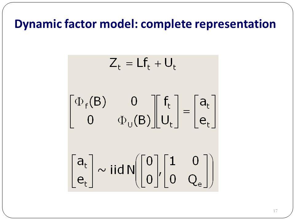 17 Dynamic factor model: complete representation