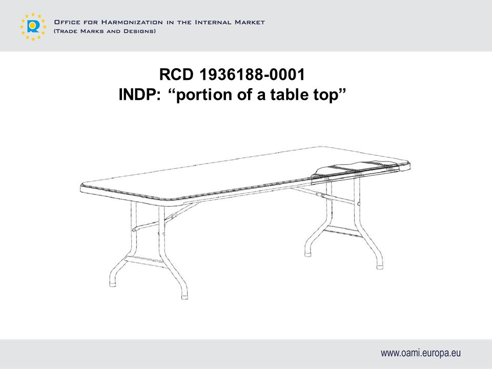 RCD 1936188-0001 INDP: portion of a table top