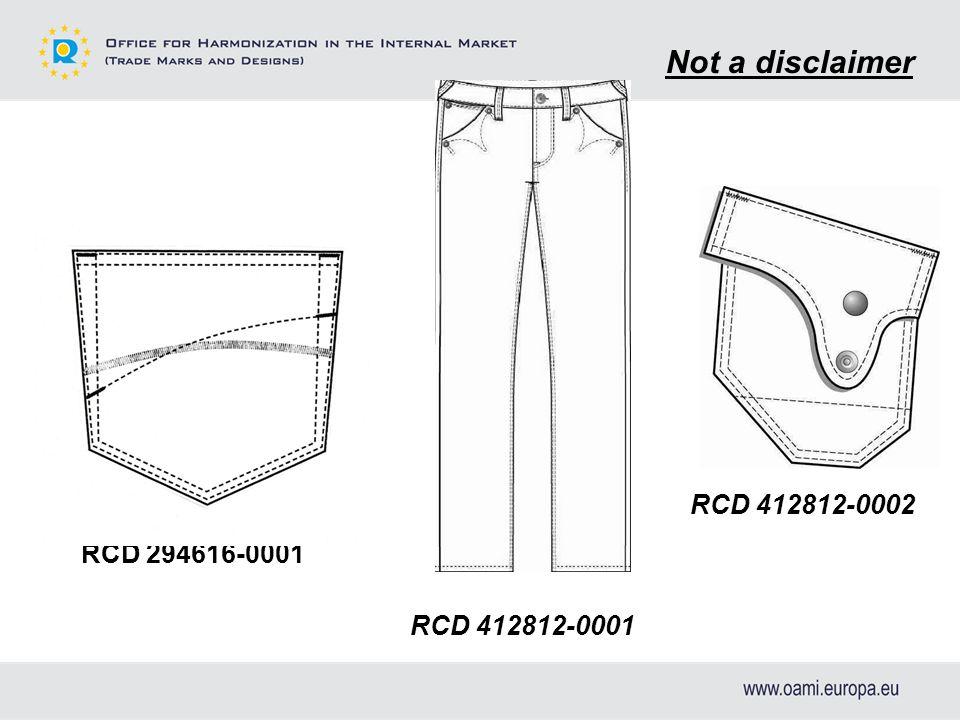 RCD 412812-0002 RCD 294616-0001 Not a disclaimer RCD 412812-0001