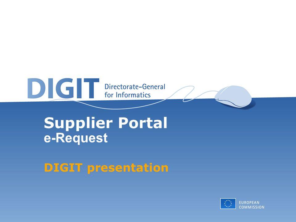 62 Supplier Portal e-Request Ad Hoc Documents