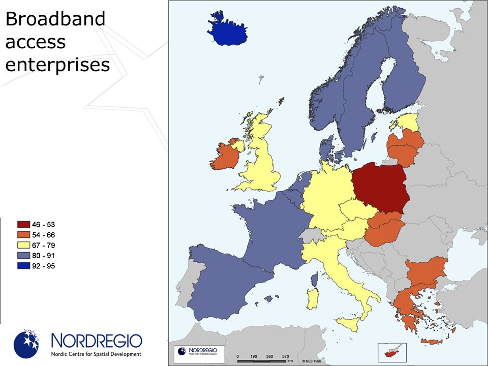 Broadband access enterprises Source: Eurostat