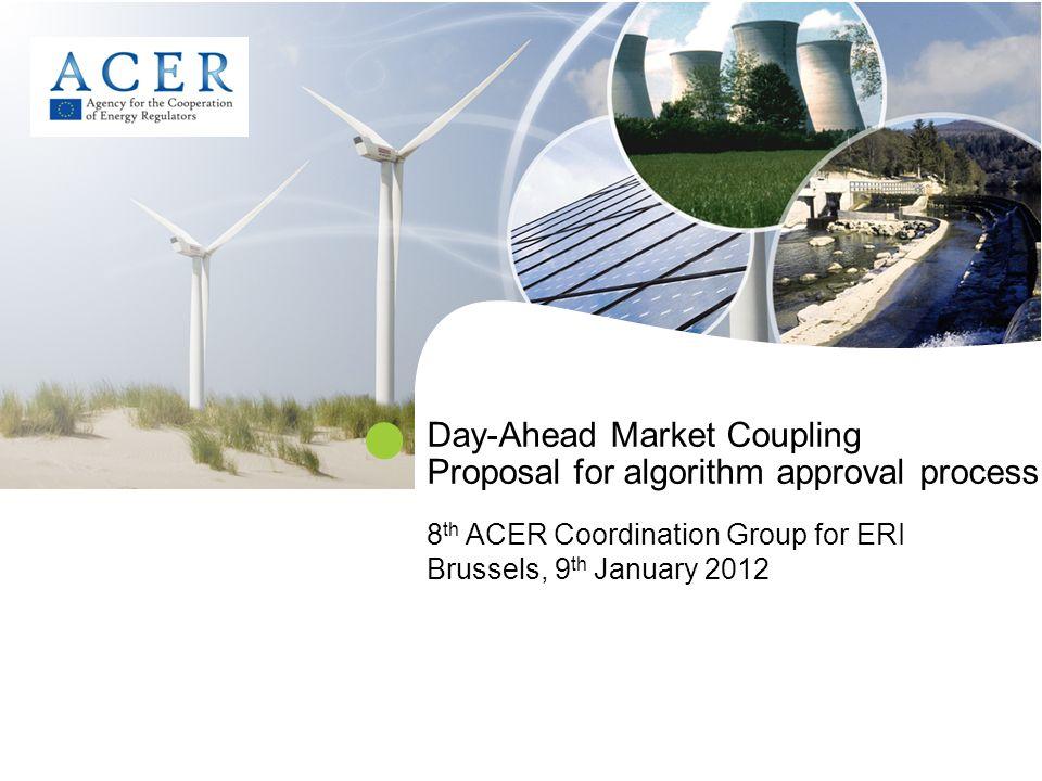 2 Background.Cross-regional roadmap: ACER shall coordinate NRAs endorsement (e.g.