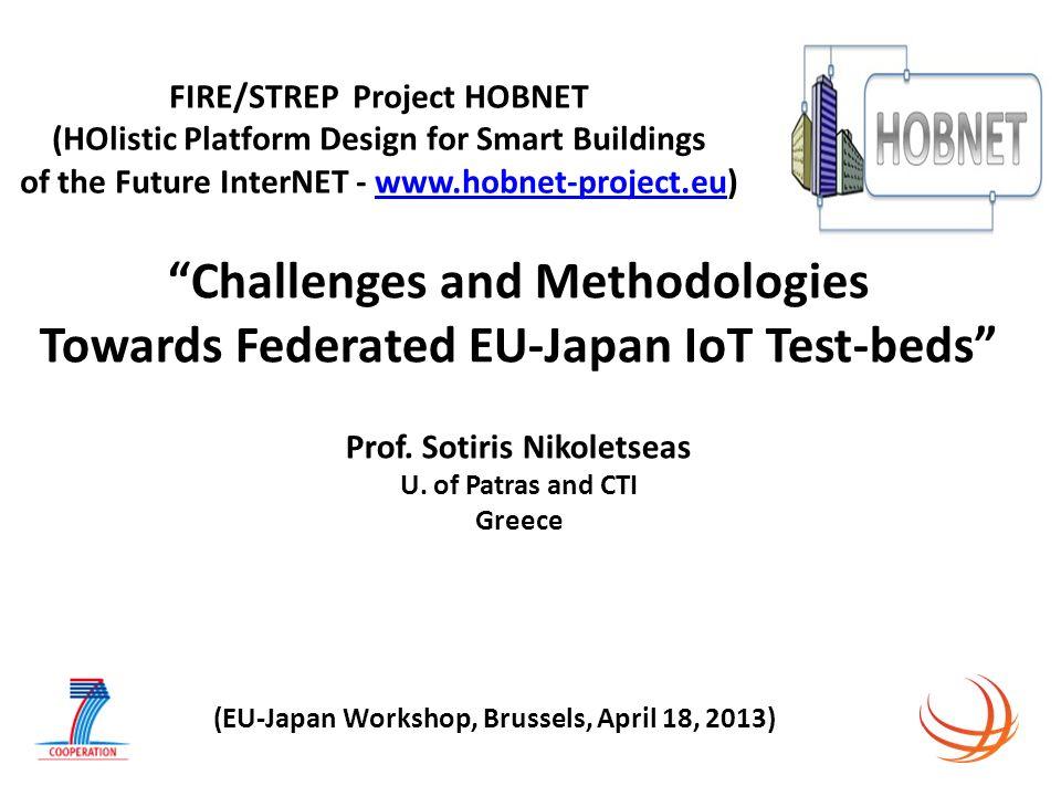 FIRE/STREP Project HOBNET (HOlistic Platform Design for Smart Buildings of the Future InterNET - www.hobnet-project.eu)www.hobnet-project.eu Challenge