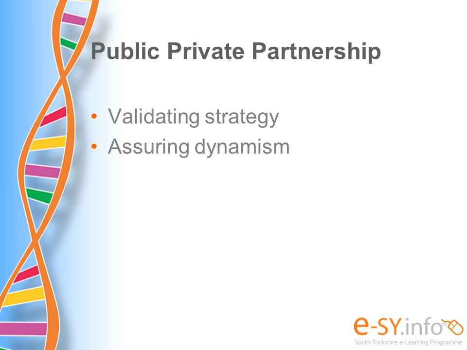 Public Private Partnership Validating strategy Assuring dynamism