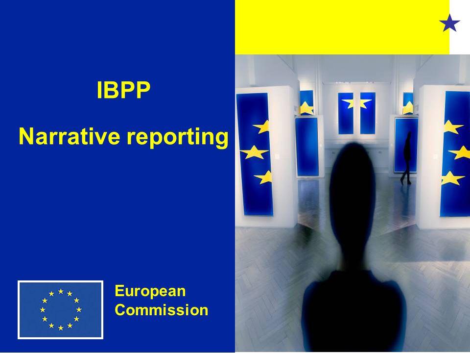 1 IBPP Narrative reporting European Commission