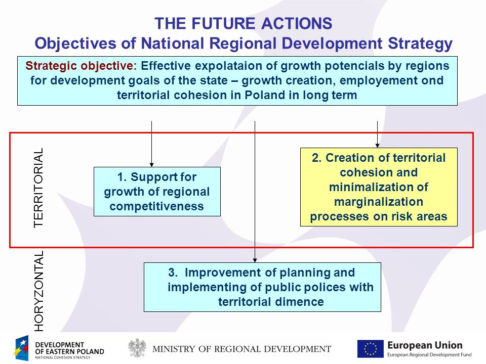 THE FUTURE ACTIONS Objectives of National Regional Development Strategy 1.