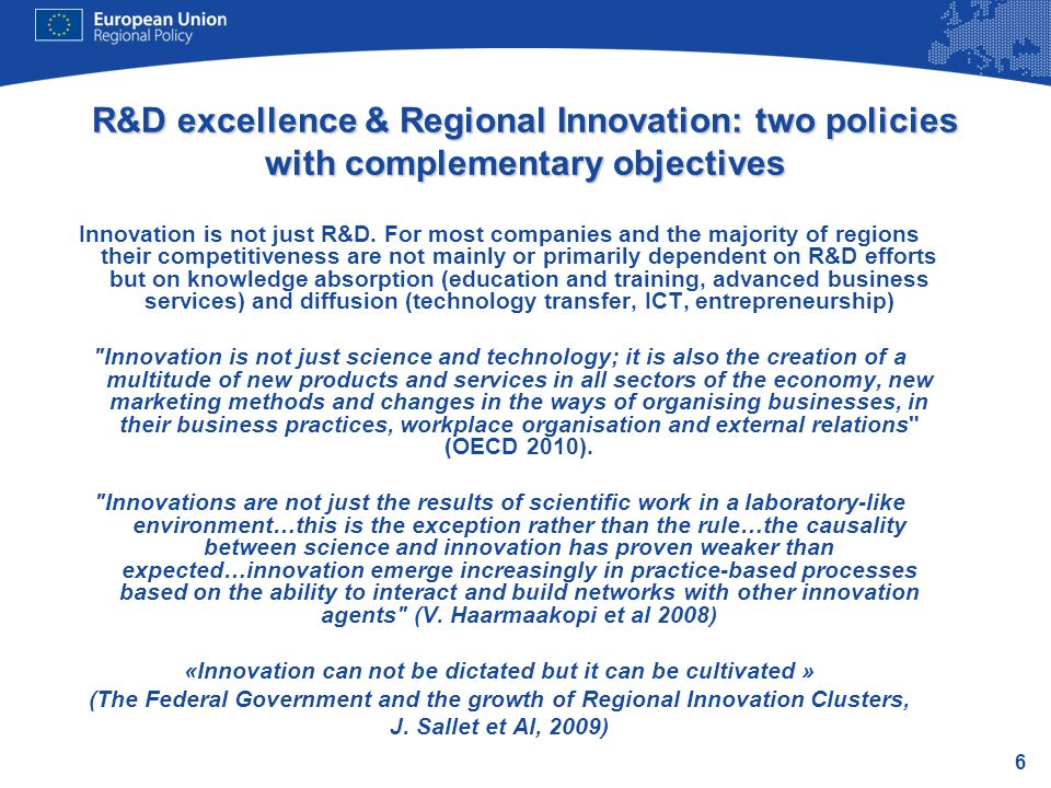17 Governance of RIS 3 as a collective social endeavour Set up a dedicated Steering Group/Knowledge Leadership Group, a Management Team and Working groups…and flagship projects Process needs to be interactive, regionally driven and consensus-based Collaborative leadership: know what, know who and know how.