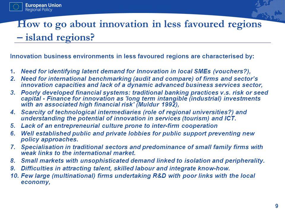 10 ERDF Investment priorities 2014-20 (Art.5) 1).