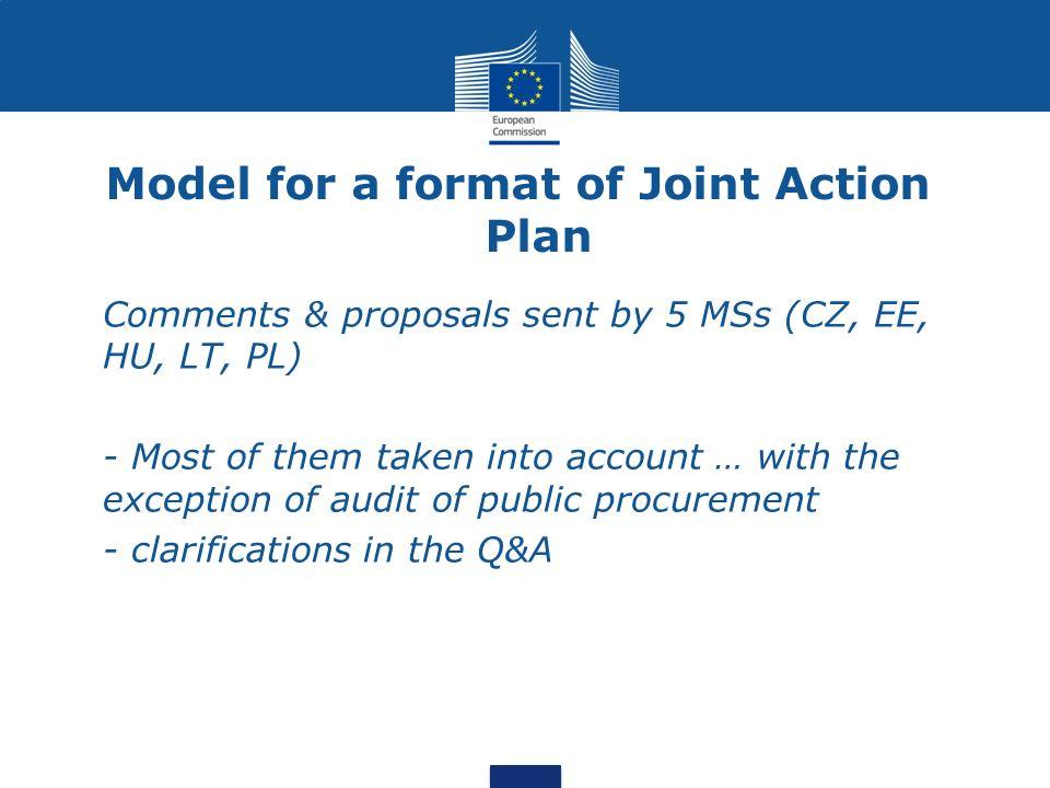 Audit issues -Audit of public procurement : focus on procedures, no audit of the amounts paid.