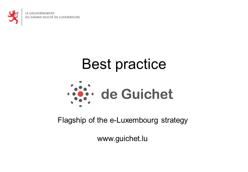 Best practice Flagship of the e-Luxembourg strategy