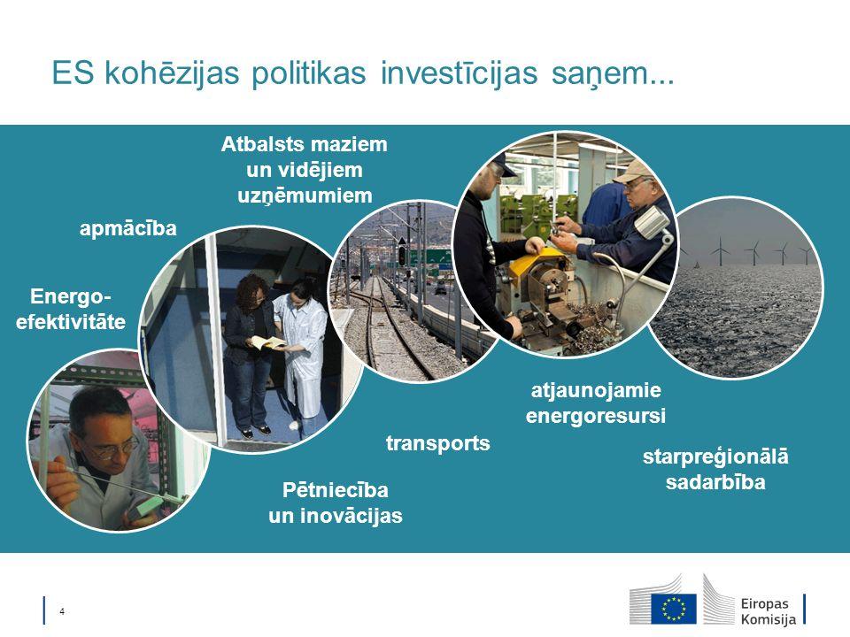 4 ES kohēzijas politikas investīcijas saņem...