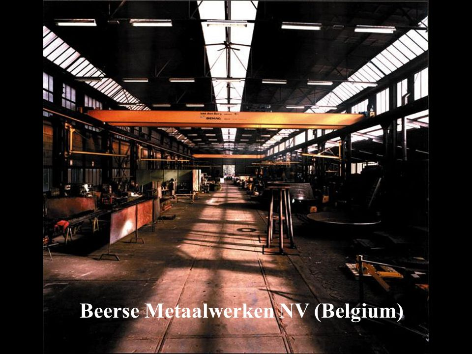 An initiative of the EUROPEAN COMMISSION Beerse Metaalwerken NV (Belgium)