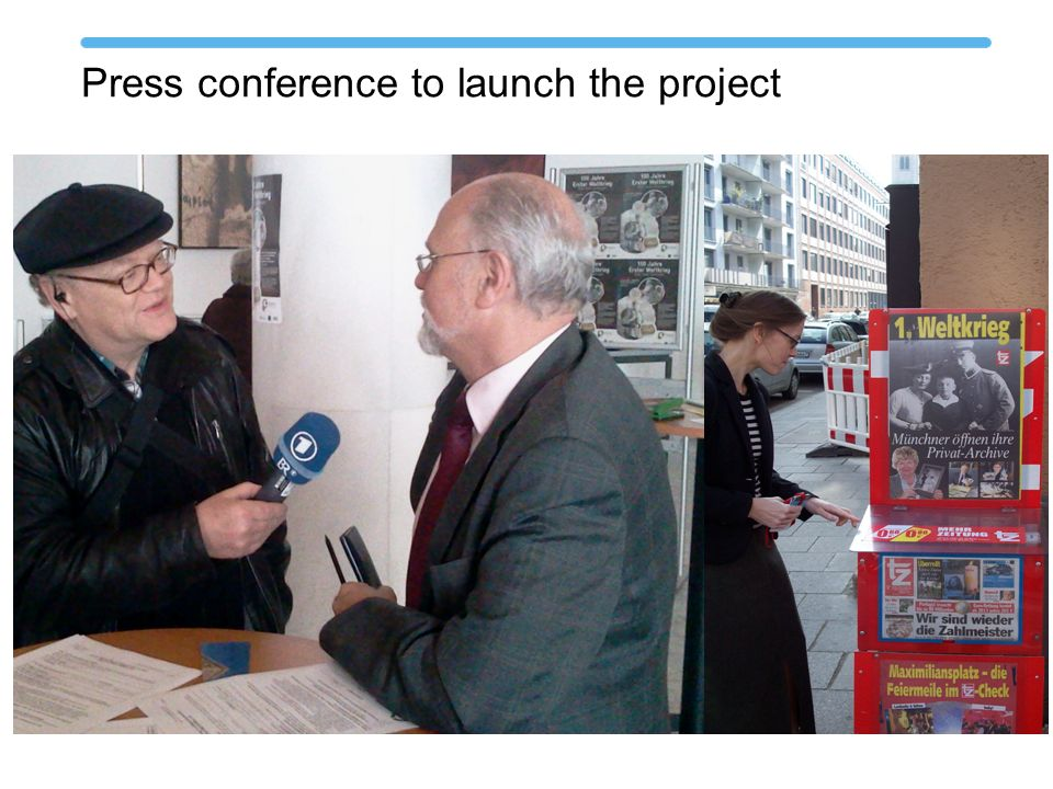 Press conference to launch the project