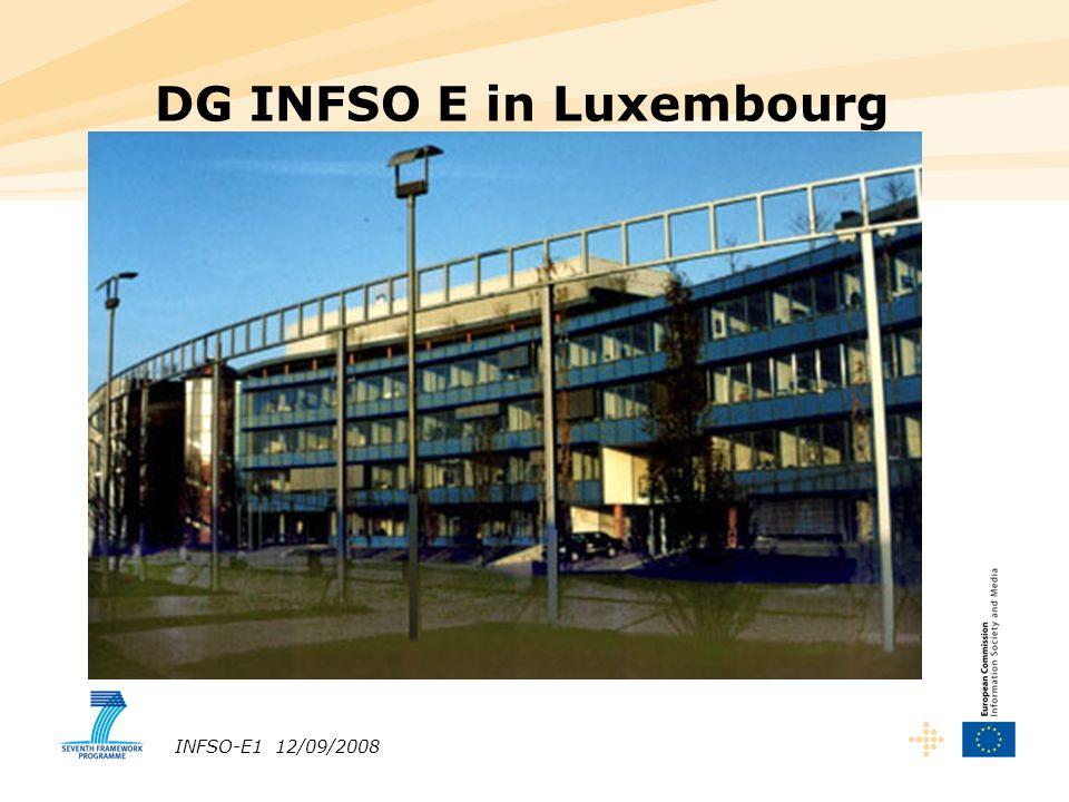 INFSO-E1 12/09/2008 DG INFSO E in Luxembourg