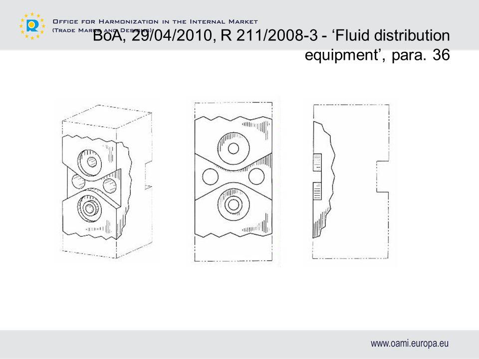 BoA, 29/04/2010, R 211/2008-3 - Fluid distribution equipment, para. 36