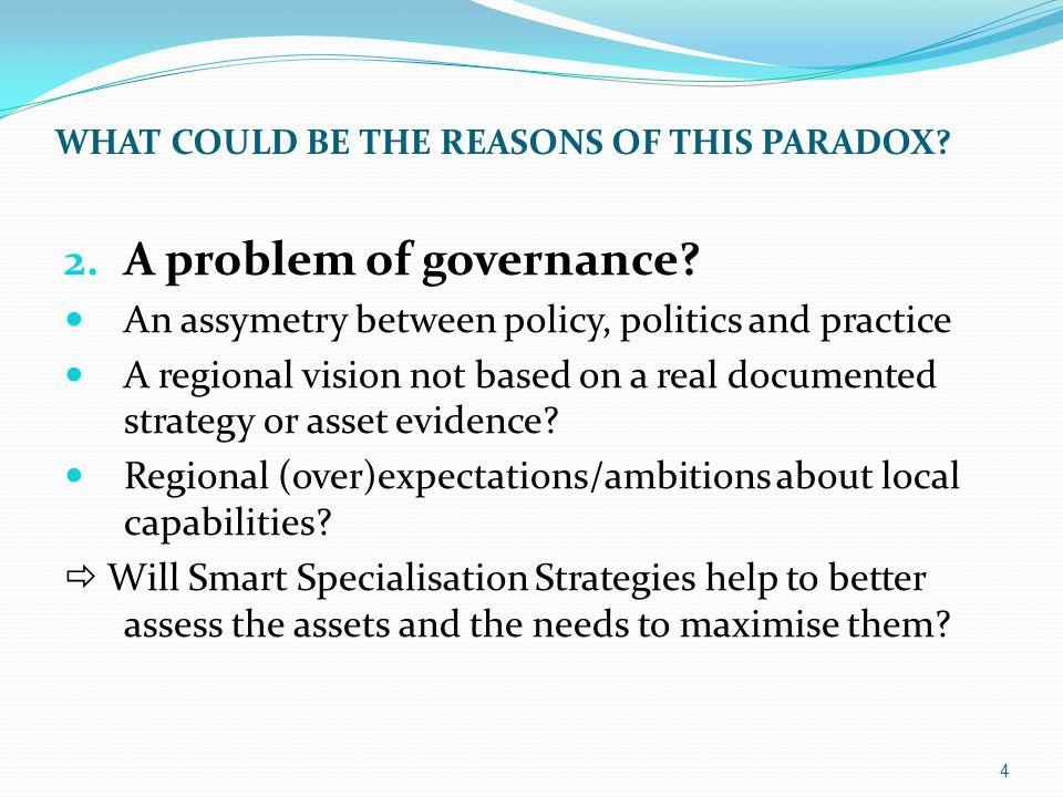 2.A problem of governance.
