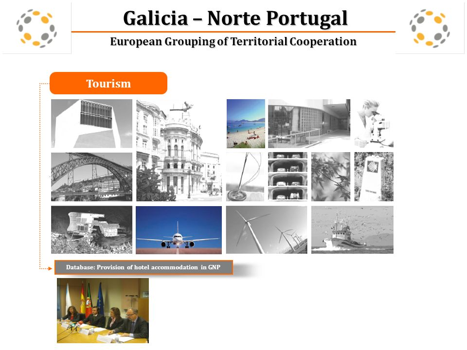 Galicia – Norte Portugal European Grouping of Territorial Cooperation Mobility and Logistics Workshop Mobility in the Euroregion Galicia Norte de Portugal: Problems and Solutions Study: interoperability among toll systems GNP Study: Impact of tolls on trade GNP Online guide to cross-border transport GNP