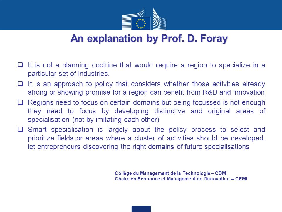 It is not a planning doctrine that would require a region to specialize in a particular set of industries.