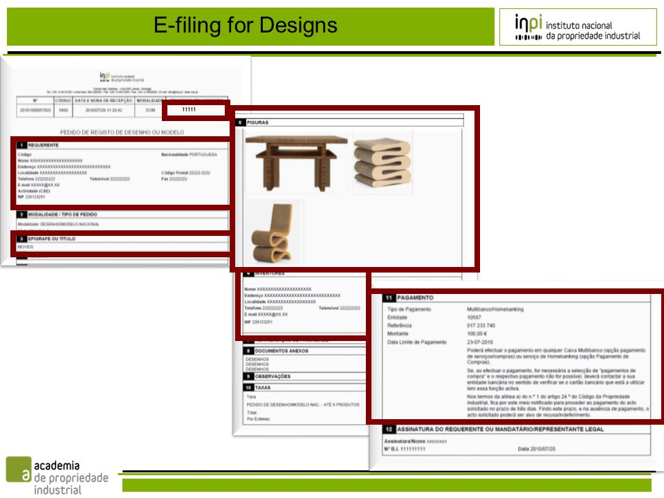 11111 E-filing for Designs