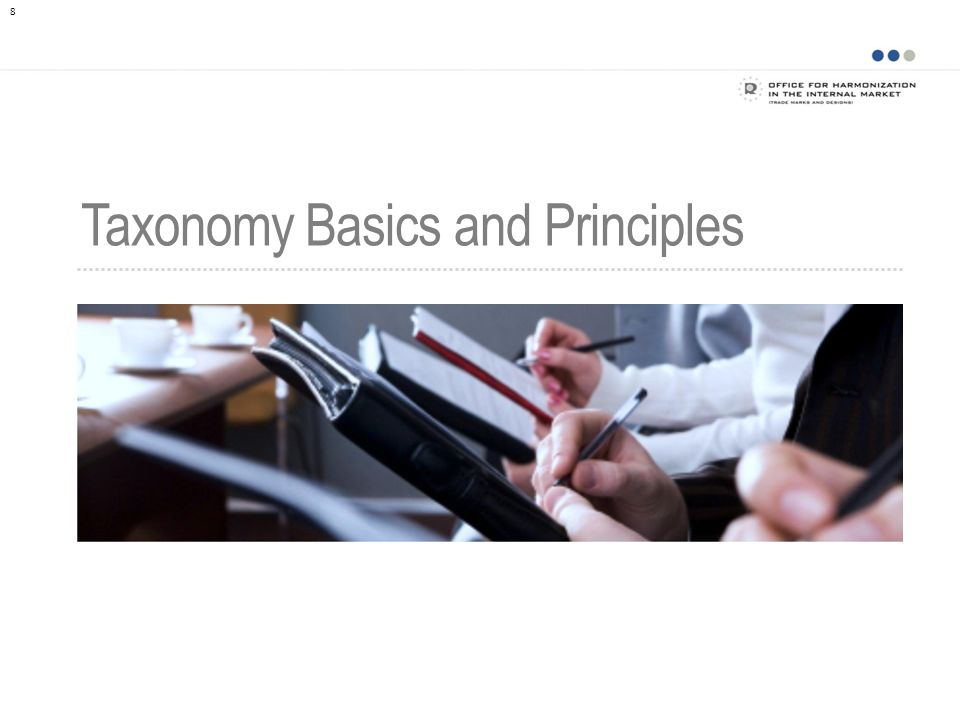 8 Taxonomy Basics and Principles