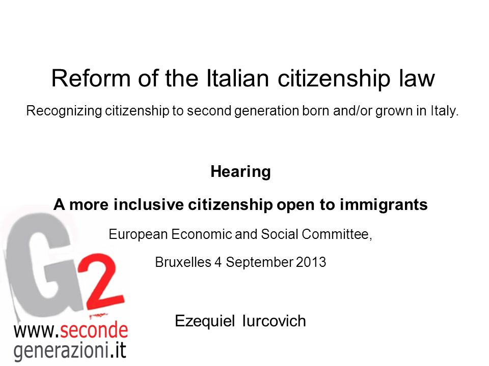 Active citizenship of second generations The status quo can be changed.