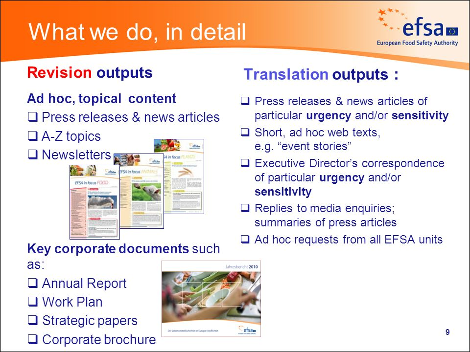 What we dont do We do not revise scientific outputs (e.g.