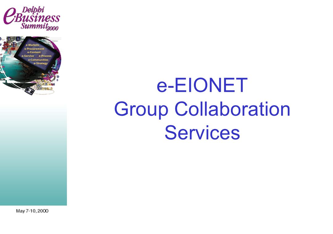 e-EIONET Group Collaboration Services