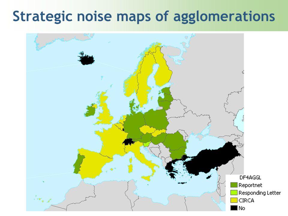 Strategic noise maps of agglomerations