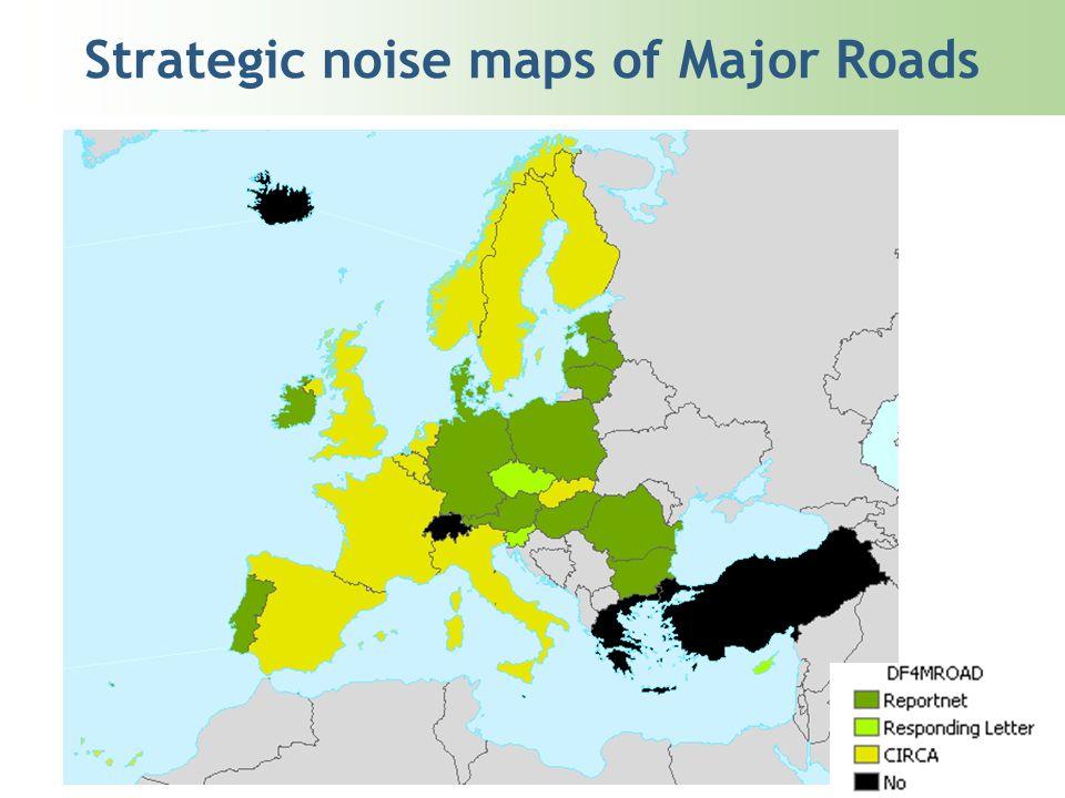 Strategic noise maps of Major Roads