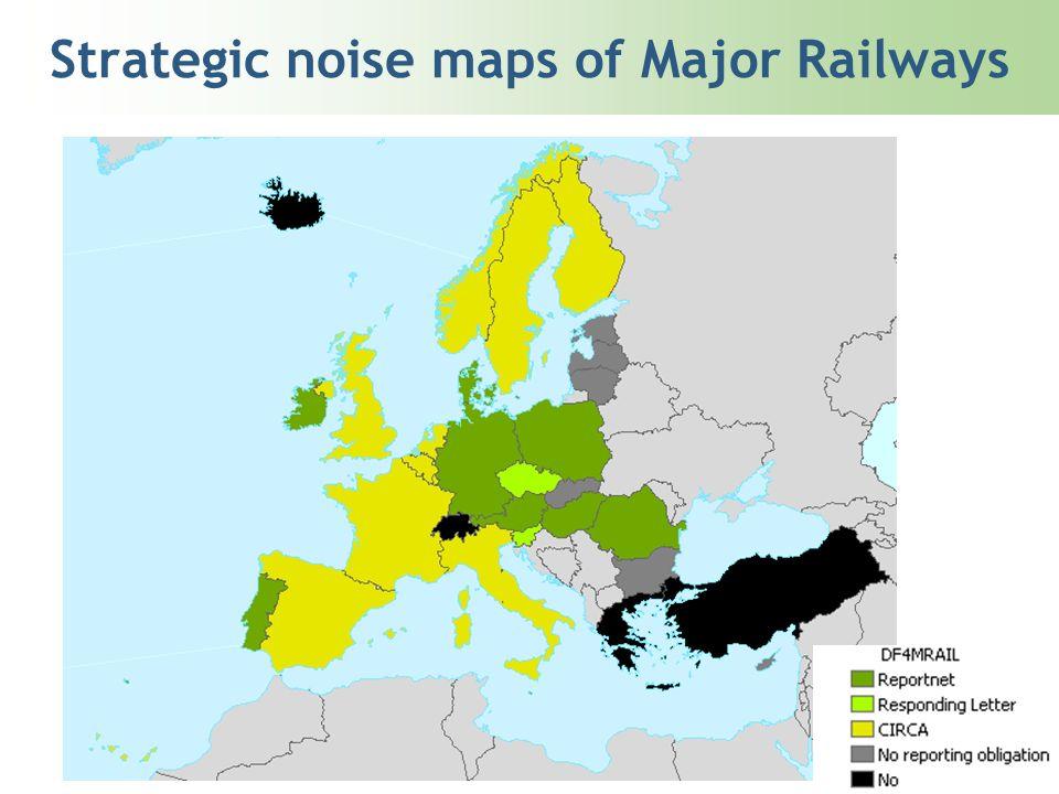 Strategic noise maps of Major Railways