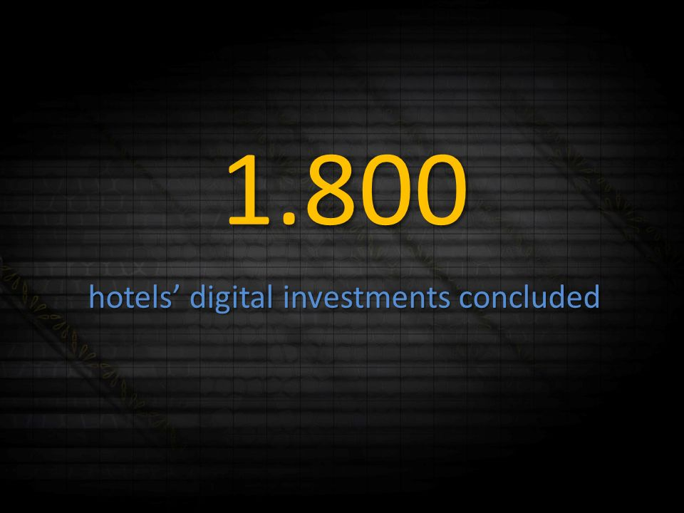 1.800 hotels digital investments concluded