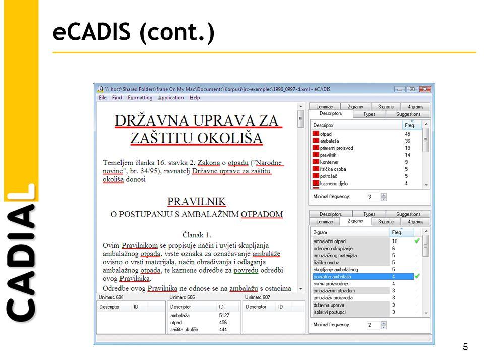 16 Comparing document classification schemes Problem: discrepancy of classification scheme (e.g.