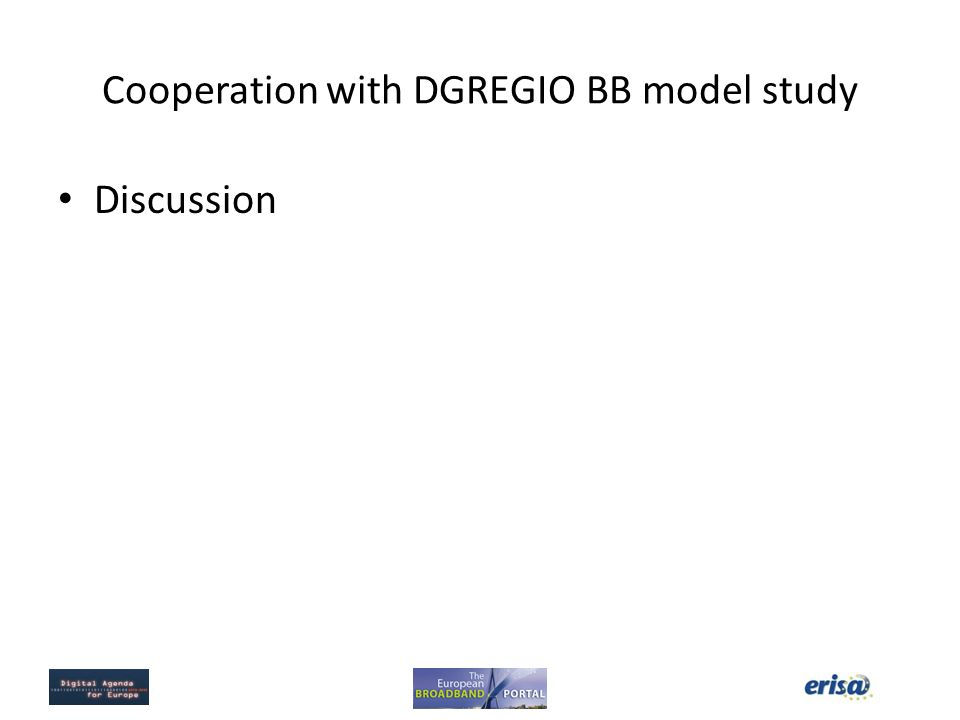 Cooperation with DGREGIO BB model study Discussion