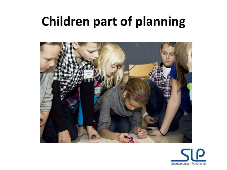 Children part of planning