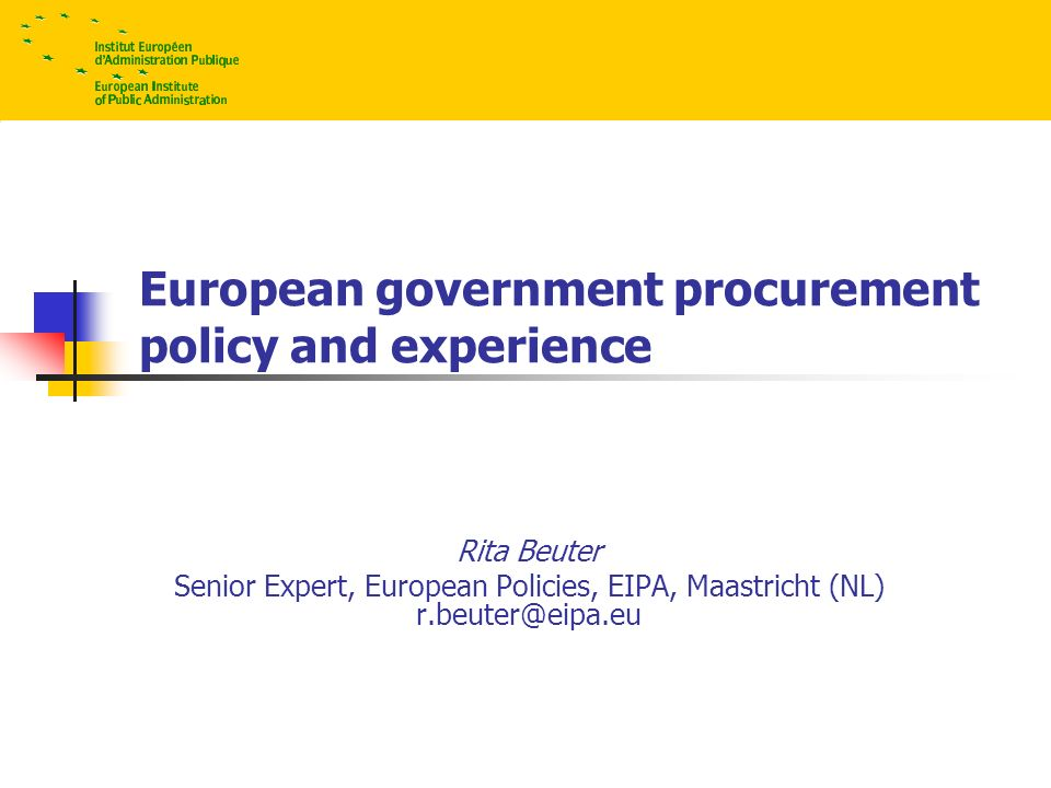 2 Facts on Procurement Procurement represents about 17% of EU GDP, about Euro 2000 billion 16 % (in value) was published in 2002 at EU level; publication in the Official Journal (OJ) in 23 languages; Tenders Electronic Daily (TED) estimated aggregated value of procurement contracts published in the OJ increased from 59 billion (1993) to 270 billion Euros in 2004 cross-border procurement accounted for 10%, but indirect procurement is relevant European rules apply to 30 countries, the EU, Norway, Iceland, Liechtenstein